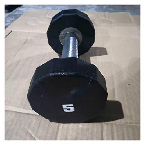 SCAYK 5kg PU Fijo Dumbbell Barbell Disk Dumbbell PCS Fijado Barbell Hombres...