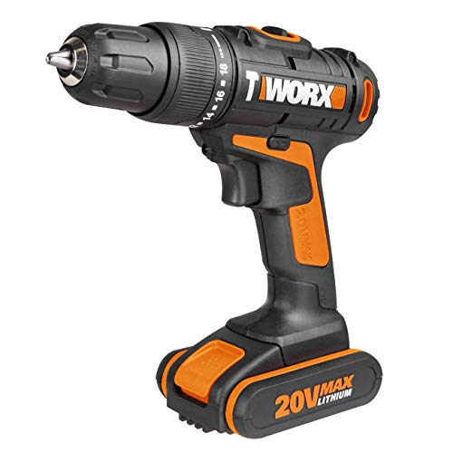 WORX WX366.5 18V 20V MAX Cordless Combi Hammer Drill with x2 Batteries