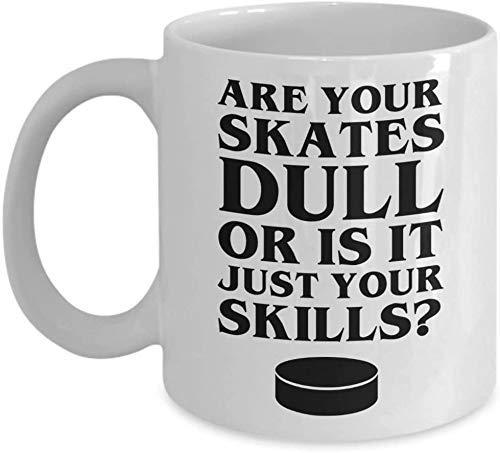N\A Sassy Dull Skate Skills - Eishockey-Kaffeetasse Weiß MUGREEVA-Becher