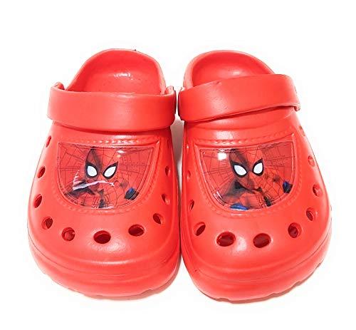 Sabots Spiderman Marvel pour la plage ou la piscine - Rouge - rouge, 28/29 EU EU