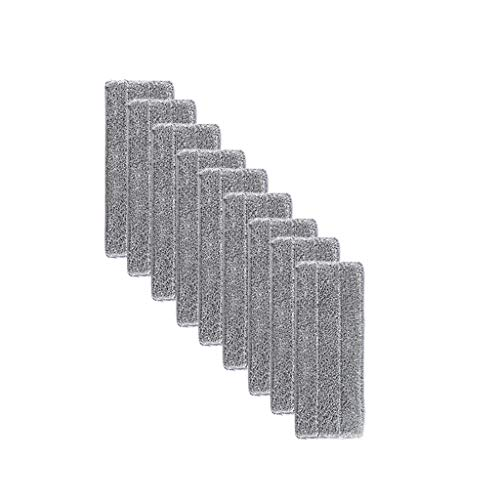 Flip Mop Refills Replacement Pads, Microfiber Head Floor Mops, Dry/Wet, Machine Washable, Double Sided Flat Sponge,Suitable for All Surface Cleaning (Gray, 9PCS)