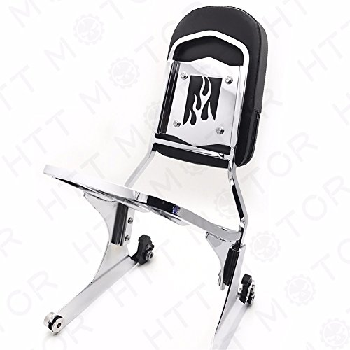 HTTMT MT501-006F+502-012-CD Detachable Sissy Bar Backrest & Luggage Rack Compatible with Harley FATBOY Softail FLSTN