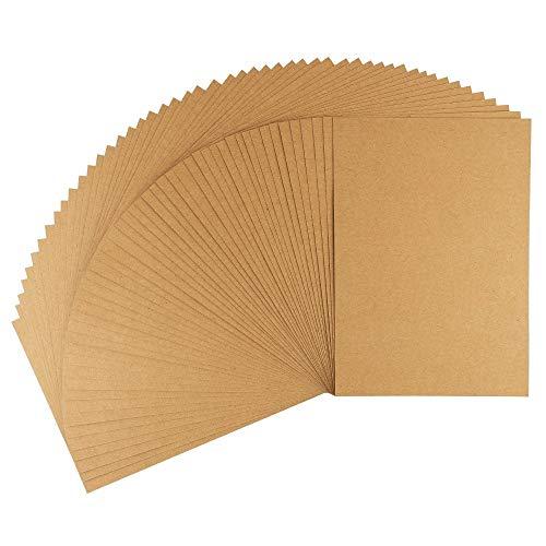 Ideen mit Herz Kraftpapier | Premium Kartonpapier | Bastelpapier | Kartonpapier | Kraftkarton | Pappe zum Basteln | 220 g/m² (Din A3 | 50 Blatt)