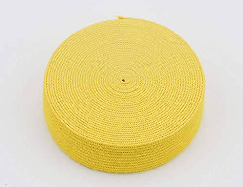 18 mm breed, 3 meter lang, elastisch lint voor naaien en knutselen - Spoel van elastische platte band voor kleding - Rekbaar koord voor rokken en broeksband-geel-3Meter-2cm