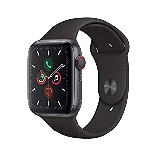 Apple Watch Series 5 (GPS+Cellular, 44 mm) Cassa in Alluminio, Grigio Siderale e Cinturino Sport - Nero (B07XLCSVQ8) | Amazon price tracker / tracking, Amazon price history charts, Amazon price watches, Amazon price drop alerts