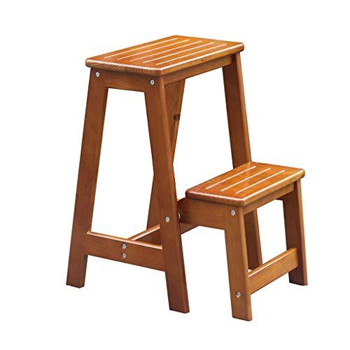 ZHJBD Furniture Stool/Folding 2 houten ladder voor volwassenen, opvouwbaar, multifunctioneel, inklapbaar, voor hoogslapers, 300 lb capaciteit