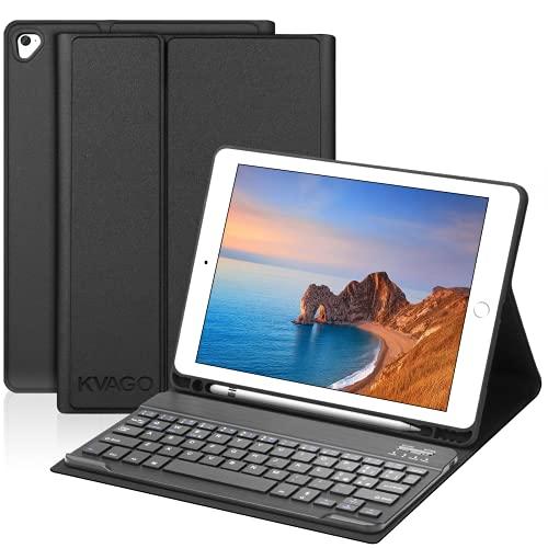 KVAGO Tastiera per iPad 9.7, Custodia con Tastiera Bluetooth per iPad 2018(6a Gen)/2017 (5a Gen)/Air 2/Air/Pro 9.7, Slim Keyboard CItaliano on Sonno Automatico e Funzione Stand Cover, Nero