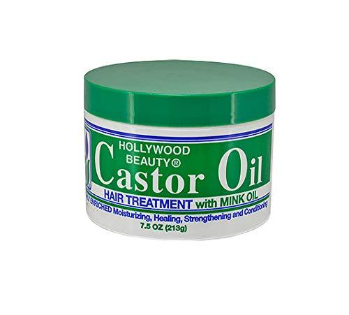 Hollywood Beauty Castor Oil Hair Treatment with Mink Oil, 7.5 Ounce