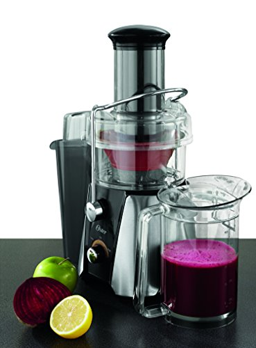 Oster JusSimple 2-Speed Easy Clean Juice Extractor with Extra-Wide Feed Chute, FPSTJE9010-000, 900W, Black/Silver