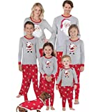Pijamas Navidad Familia Conjunto Pijama Papa Noel Navideñas Niños Hombre Mujer Niña Chica Trajes Ropa de Noche Homewear Pijamas de Navidad para Toda La Familia Sudadera Chándal Suéter de Navidad L