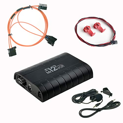 DJC Bluetooth A2DP manos libres USB SD AUX adaptador Kit de coche para Audi A4 A5 A6 Q7 MMI 2G High/Basic