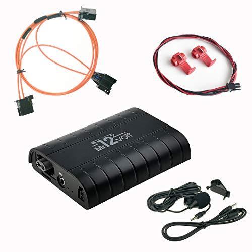 DJC Bluetooth A2DP manos libres USB SD AUX adaptador Kit de coche para Audi A4 A5 A6 Q7 MMI 2G High/Basic