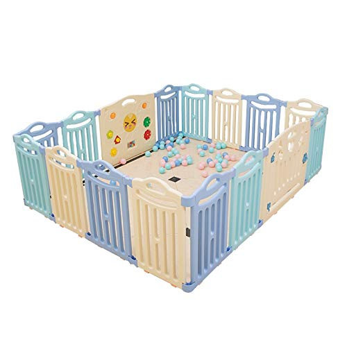 Buy Discount 16 Panels Baby Playpen – Kids Activity Centre Safety Children's Fence, Baby Safe Crawling Toddler Guardrail