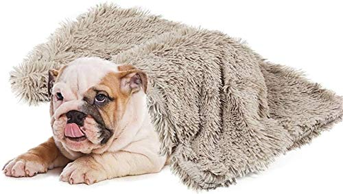 Mantas Largas de Felpa para Perros y Gatos para Dormir Profundamente, Suaves y Finas Cubiertas para el Uso de la Cama en Cualquier Época del Año (Color : Khaki, Size : 75x100cm)