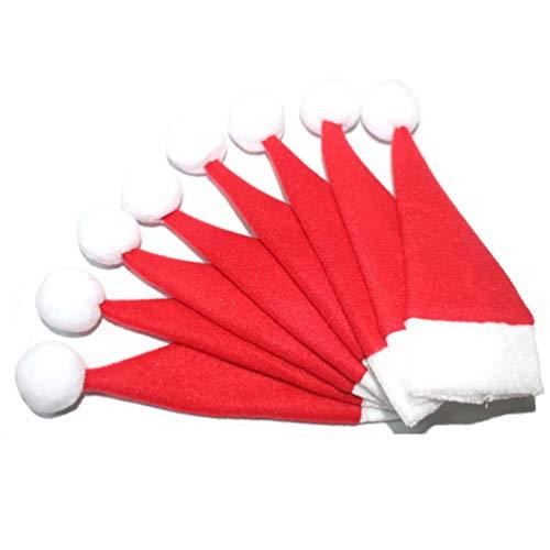 Toyandona - 8 bolsas para cubiertos de Navidad, para cubiertos o cubiertos, decoración de Navidad, 18 x 7 cm