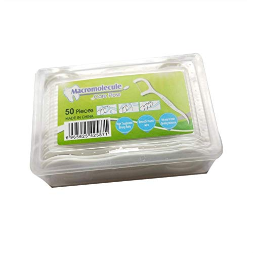 Xincsiwang - 50 varillas de hilo dental de polímero, cuidado interdental