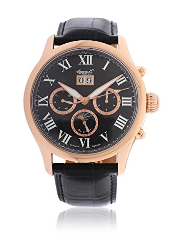 Ingersoll Herren-Armbanduhr XL Chronograph Automatik Leder IN1411RBK