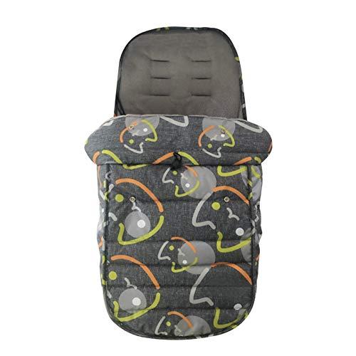 ishine - Saco universal para cochecito de paseo, cochecito, cochecito y cochecito, impermeable y resistente al viento, forro polar