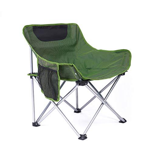 Aajolg Chaises Pliantes extérieures de Camping de Chaise, Tube de Fer épaissi par Tissu de PVC d'Oxford de 600 * 300D avec la Chaise de Camp portative de Sac de Rangement,Green