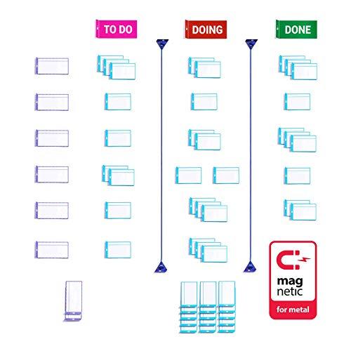 PATboard Scrum Board und Kanban Tafel Basis Toolset Magnetisch - Magnetkarten für agiles Projektmanagement