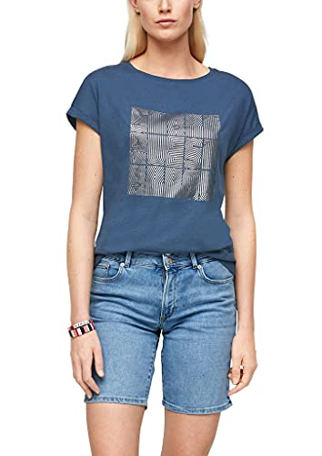 s.Oliver Damen 120.10.104.12.130.2064161 T-Shirt, Faded Blue, 44