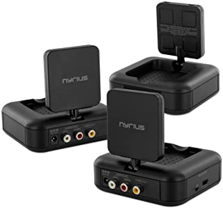 Nyrius Nyrius NY-GS10 5.8GHz 4 Channel Wireless Audio/Video Transmitter System with Additional NY-GS10RX Receiver (2 Recei...