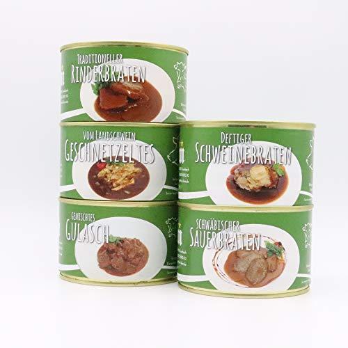 Diem Braten-Paket (Rinderbraten, Gulasch gemischt, Sauerbraten, Schweinebraten, Schweine Geschnetzeltes) 5 x 400g Konserve - (17,55€ / Kg)