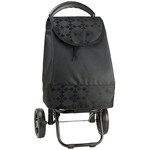 キャリーカート 買い物 バッグ カート バレンチノ ヴィスカーニ 保冷ショッピングカート 4段調節バー式 黒/黒 15161 父の日 15161