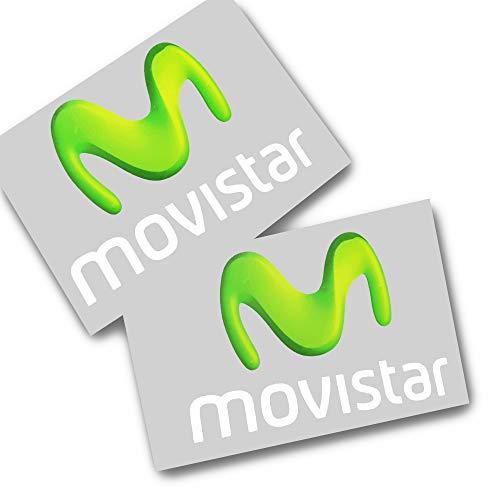 Twisted Melon MOVISTAR MOTO Racing patrocinador gráficos pegatinas x 2 pegatinas pequeñas