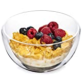 Dragon Glassware Cereal and Soup Bowls, Insulating Double-Walled Glass Keeps Food Hot & Cold and Safe-To-Touch, 23-Ounce, Set of 2
