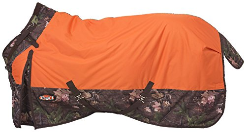 Tough 1 Timber 1200D Waterproof Poly Snuggit Turnout Blanket, Orange, 75'