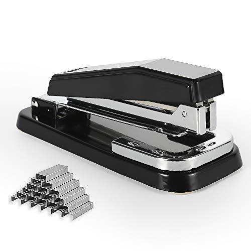Staplers,Rotate Stapler,Desk Stapler,Metal Stapler Office Supplies with 1000 Staples (Black)