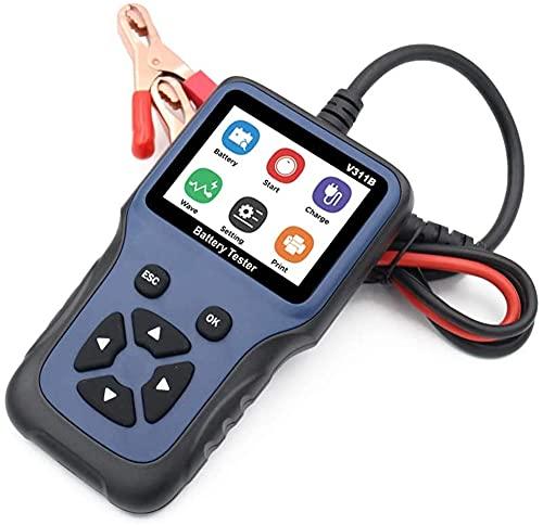 Probador de batería para coche, Car Battery Tester12 V 100-2000 CCA 220 Ah, analizador de carga de batería y probador de alternador para coche/barco/motocicleta