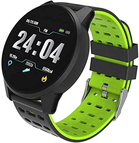 Reloj de Pulsera para Hombres con presión Arterial y medición de frecuencia cardíaca 5 Relojes-D: Negro y Verde