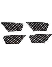 Qii lu 4 piezas cubierta de tazón de puerta de fibra de carbono interior para coche ajuste para Romeo-Giulia 17-19