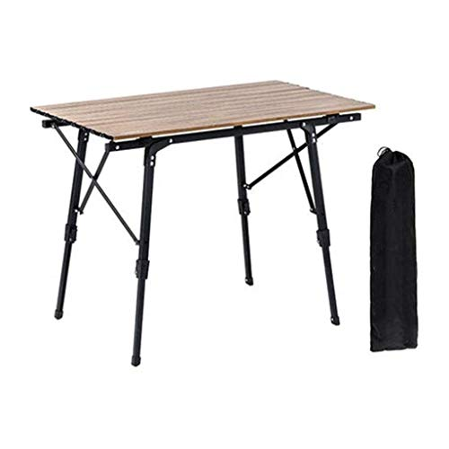 UNU_YAN Picnic Tables for Outdoors Lightweight Folding Table, The of Camp Table Are Made From Aluminum, Adjustable Height Convenient Easy Carry, Suitable for Camping Cooking