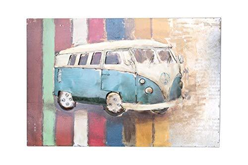 Primus Vintage Car Art - Classic VW Campervan Wall Art - 3D Metal Wall Decor