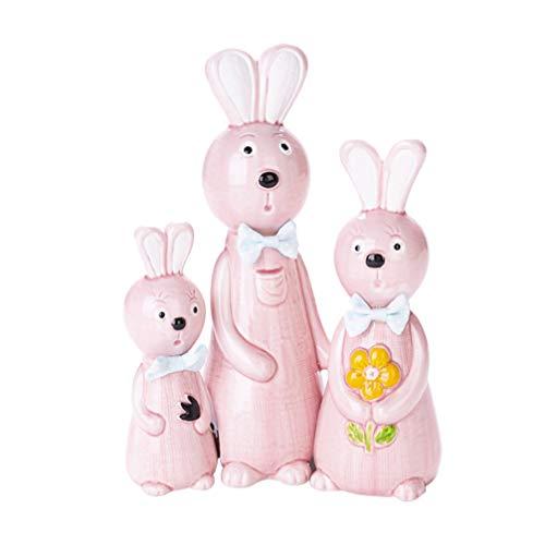 STOBOK 3 Peças de Coelho Bonecas Família Bonecas Bonecas Brinquedos Colecionáveis