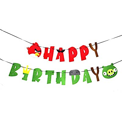 Angry Birds Birthday Banner Angry Birds Game Theme Birthday Decoration Birthday Party Supplies
