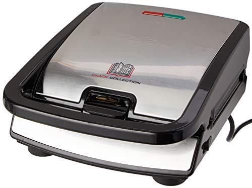 Tefal SW852D Snack Collection | Sandwich- und Waffelmaker | Kombigerät | Antihaftbeschichte Platten | Spülmaschinengeeignet | mit vielfältigen Funktionen erweiterbar | 700W
