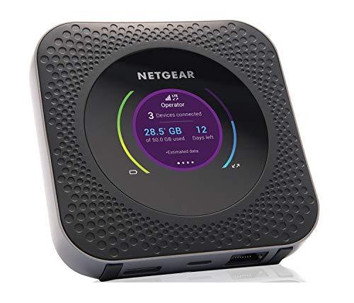 Netgear Nighthawk M1 MR1100-100EUS Mobiler WLAN Router (4G Router, LTE, Cat16, 1000Mbit/s, 11ac, 1x Gigabit Port, kompatibel mit allen europäischen SIM Karten) + externe MIMO TS9-Antenne (3G und 4G)