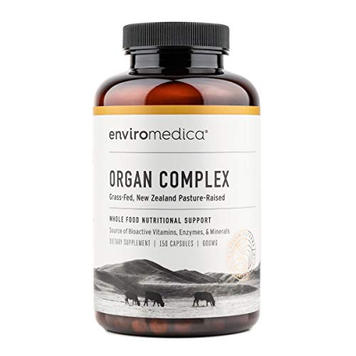 Enviromedica Grass-Fed Organ Complex: Freeze-Dried Beef Liver, Kidney, Heart, and Pancreas (150ct)