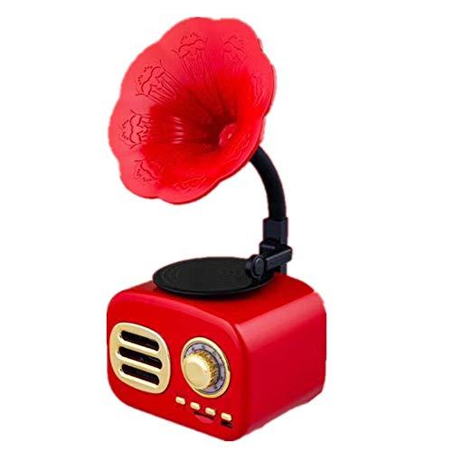 Retro Bluetooth-Lautsprecher Imitiert Phonograph Audio Mini Bluetooth Smart Lautsprecher Peking Opera Rot