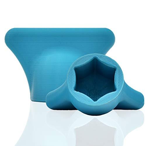 mix-slider - Thermomix Teigblume, Teiglöser Zubehör für Vorwerk Küchenmaschine TM5 + TM6 Made in Germany 3D Gedruckt (Türkis)