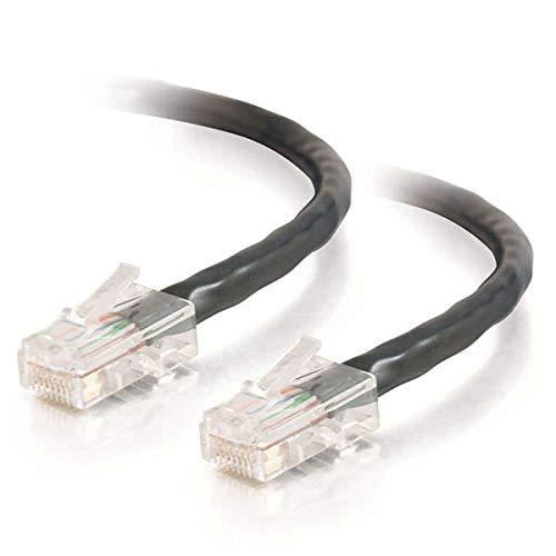 C2G Cat5e 0,5 m-Cavo Ethernet Incrociato (UTP), Cavo di Rete Patch Crossover, Colore: Nero Nero Nero 1 m