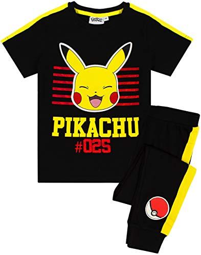Pokèmon Pikachu Pijamas Camiseta y Pantalones de Manga Corta para niños Conjunto