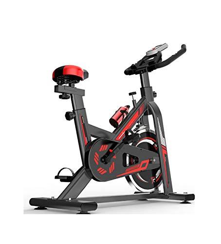 PHASFBJ Vélo D'intérieur Professionnel,avec Module De Détection De Fréquence Cardiaque Et Écran LCD, Vélo d'exercice De Fitness, Poids Maximum 330Lb, Équipé d'un Porte-Bidon