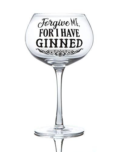 Boxer Gifts Forgive Me Gin Bloom Glas | Lustige Glasware zu Weihnachten, Muttertag oder Geburtstag | Verpackt in einer Geschenkbox, 9,5 cm x 18,5 cm