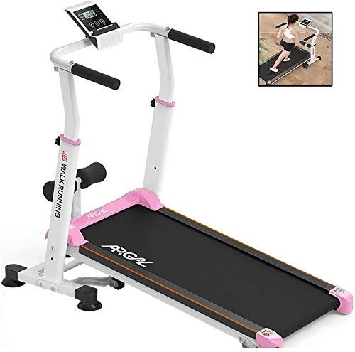 Great Deal! MGIZLJJ Treadmills Folding Treadmill Non-Electric Mechanical Motorized Running Machine W...
