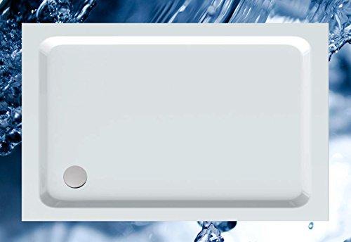 Plato de 140 x 90 ducha 140 x 90 Rectángulo de ducha bañera 140 x 90 x 3,0 cm Line